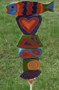 Garden Bead Poles by Sherry Tolar